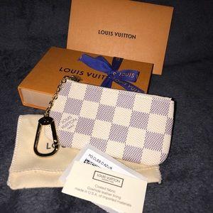 NEW Louis Vuitton Damier Azur Canvas Key Pouch